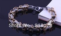 new arrival stainless steel man bracelet bangle titanium steel cuff bracelets handchain fashion man jewelry