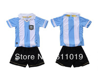 Best Quality Child's Jersey 13-14 Season Argentina Home kid Soccer Jersey Football Uniforms Embroidery Logo Mix Order