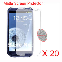 20 pcs/lot  High quality Anti-glare Matte screen protector for Samsung Galaxy S3 I9300   Free shipping