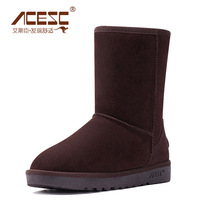 2013 new winter boots snow boots in leather boots leather footwear winter cotton boots leg