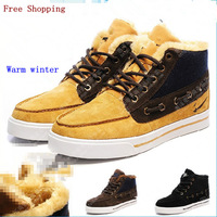 2013 winter snow Beckham couple cotton men's and women's footwear 997 plus plush warm shoes high -top shoes