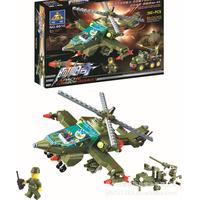 Free shipping Fight inserted blocks diy assembling building blocks toy boy toys apache 360pcs Educational Toys