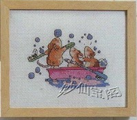 Free shipping DIY unfinished Cross Stitch kit animal Bathroom small mouse ZA-D082