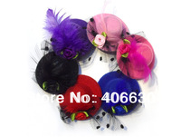 5cm in diameter mini top hat, headpiece, multiple Colors, 48pcs/lot, Free Shipping  by China post