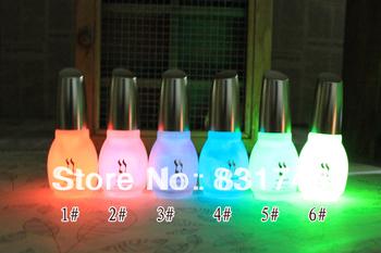 The series of 12 color 1pcs 15ml Fluorescent Neon Luminous Nail Polish Glow in Dark Nail Varnish Nail Enamel