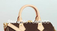 Free Shipping Lady Luxury Brown Mono Handbag M40390 M40391 M40392 Speedy bandouliere 25 30 35 Women Bag