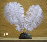 Free shipping 100pcs 15-20cm / 6-8'' white ostrich plumage feathers for wedding derss decoration table centerpieces bulk sale