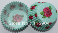 100pcs valentina's day  rose  cupcake liners baking cup paper muffin cup theme party  lover's party