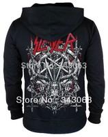 Slayer Hoodies Hot sell high quality clothing jacket hot brand rock sweatshirt items skull punk death dark metal