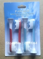 SONIC P-HX-6044 Neutral Package Electric toothbrush head  4 soft bristles/1 sets,100sets/400pcs,free shipping