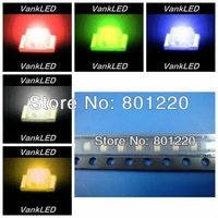 5Valuesx100pcs/color=500pcs New 0805 Ultra Bright SMD LED Red/Green/Blue/Yellow/White Kit