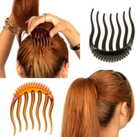 Fashion Women's Elegant Multiple Plastic Hair Bumper Comb Hair Pin Hair Clip free shipping 7713