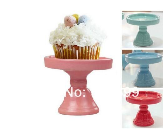 2013 new arrival ceramic cake pan, high fashion cake stand, wedding dessert decoration, afternoon tea cupcake stand(China (Mainland))