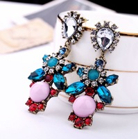 New Vintage Crystal Exquisite Earring Charm Jewelry Design Jewelry Earrings Factory Wholesale