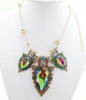 2014 Fashion  Brand Big Crystal Statement Women Necklaces & Pendants Chunky Shourouk Vintage Choker Jewelry Wholesale