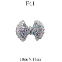 100pcs/design  Fashion 3D Alloy  color Crystal  Nail art Decoration of 3D alloy 3D nail art studs  F41