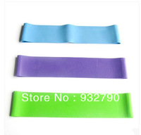 New 3pcs women girl Resistance Loops Home Gym Exercise Pilates Yoga Band blue/green/purple color