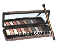 Free shipping eye shadow 12 palette cosmetic women beauty product eye shadow makeup Nake 12 colors luminous natural