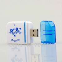 Free shipping USB 2.0 Memory Card Reader All in 1 For Micro SD/TF M2 MMC SDHC MS Duo,no tracking,hfs