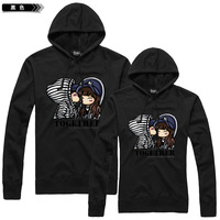 Lovers autumn 2014 lovers outerwear plus size lovers sweatshirt long-sleeve hoodie