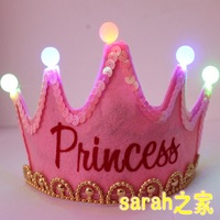 Birthday hat princess hat birthday hair accessory birthday party supplies luminous hat