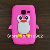 1pcs Cute 3D Cartoon Penguin Soft Silicone Cover Case for Samsung Wave Y S5380