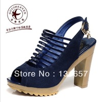 NEW 2013 Autumn Fashion Sandals For Women,Guciheaven Fish Mouth Thick Heel Sandals, Platform Female Shoes.X-028