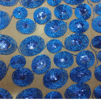 New Design! fashionable circle cording embroidery fabric for wedding decoration upholstery 3mm sequin mesh