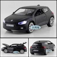 Alloy car model toy volkswagen scirocco plain four door WARRIOR