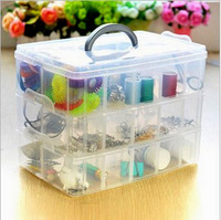 Free shipping detachable plastic storage box transparent storage box 18 Frames plastic jewelry box tool plastic storage box