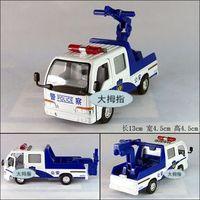 Public security police tractor trailer alloy car model plain WARRIOR
