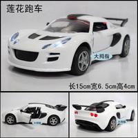 Alloy car model lotus roadster acoustooptical belt WARRIOR double door toy car