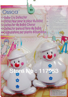 2013 New 100% Oringinal Baby Care Induction Lovely Snowman Wireless Baby Cry Detector Monitor Watcher Alarm 5pcs