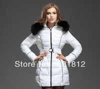 tops women new fashion 2013 plus size women clothing wadded jacket outerwear  female medium-long women's wear of the big sizes