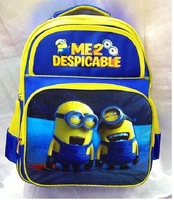 Cartoon Despicable Me 2 Minions kids backpack Primary Scholar children school bags for Boy or Girl backpacks canvas bag