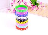 Popular color rubber star bracelets sport bracelet candy color BEST FRIENDS letter ring hand silicone wrist bracelet MMB-0040