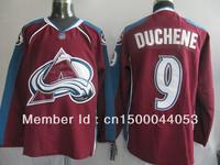 Free shipping men's ice hockey jerseys,Colorado Avalanche 9 Duchene red jerseys,can mix order.