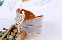 Euramerican style bracelet frosted leaf geometry alloy bracelet MMB-0042