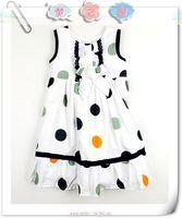 Children's clothing fashion catimini female child exquisite 100% cotton polka dot one-piece dress