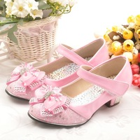 Female child high-heeled single shoes 2013 fashion princess shoes female single shoes child princess shoes sandals