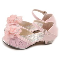 Female child princess 2013 child shoes high-heeled sandals female child sandals rhinestone bow open toe ploughboys