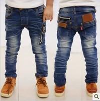 Hot sell ! 2013  Spring  children's clothing boys wild baby jeans children trousers new Korean version