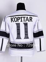 11 Anze Kopitar Youth Premier Road White Hockey Jersey Size:S/M L/XL,Free Shipping