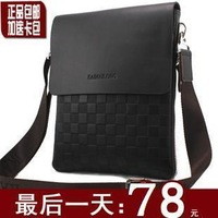 Man genuine leather shoulder casual man male messenger soft bag