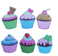 Ice Cream Cake Series 6 Types About 6*5.2cm Appliques~ Iron On Patches,Made of Clothes 60 pcs/lot Free Shipping