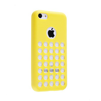 Free Shipping, Latest Stylish Perfect Durable Soft TPU Gel Case Cover Skin for Iphone 5c Yellow
