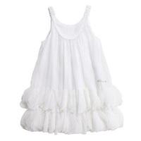 Children's clothing  catimini female child princess petals chiffon one-piece  spaghetti strap tulle  tank