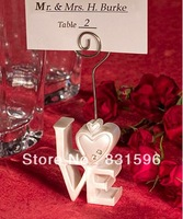 Free shipping ! LOVE Design Place Card Holders wedding favors and gifts