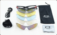 Outdoor bicycle five sets of lens glasses polarized myopia mountain bike riding glasses equipment