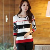 2013 autumn women's slim sweater basic shirt Women autumn top basic t-shirt female
